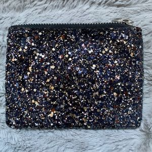 Sparkly Madewell Zip Card Case